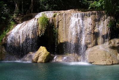 Reisschema Thailand Erawan watervallen