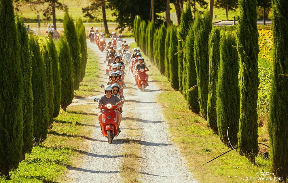Vespa roadtrip Italië - Toscane