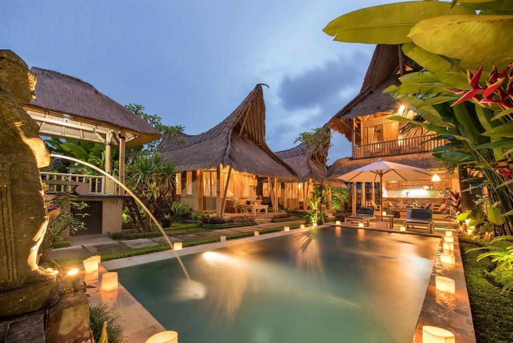 Privé villa in  ubud van bamboo